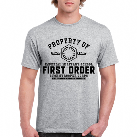First Order Stormtrooper Corps  Military School Project Resurrection Star Wars T-Shirt